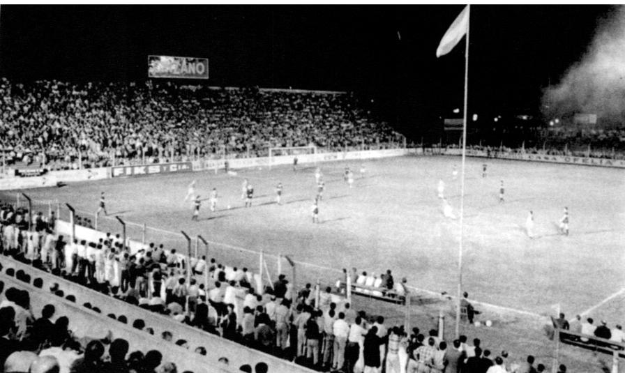 30 diciembre 1968 inauguración iluminación partido Deportivo Morón vs Boca Juniors